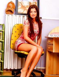 Beautiful girl in sexy dress ...