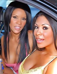 Double the Latina pleasure in...