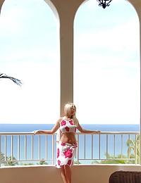 Alison Angel - Slutty blonde teen babe wears her summer skirt and top