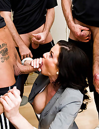 Raven Haired Hottie Gets Anal Drilled