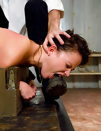 Bound girl fisted and squirting