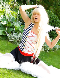 Sailor girl in white stocking...