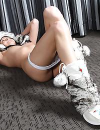 Cotton panties teen tease