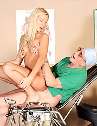 Wealthy old doctor fucking a teenage beauty
