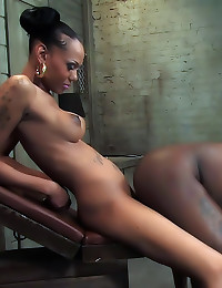 Black shemale military babe f...