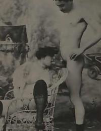 Vintage couples having dirty sex in twenties