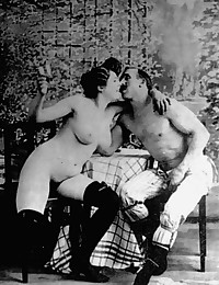 Vintage couples having dirty sex in twenties