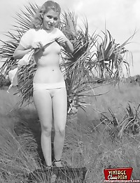 Several vintage girls showing their bodies