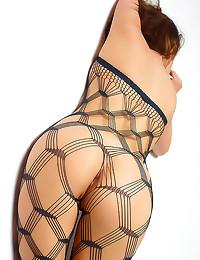 Futuristic fishnet pantyhose ...