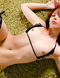 Redhead with young pussy