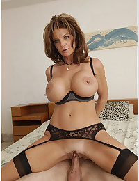 Busty Cougar Deauxma Rides Younger Man