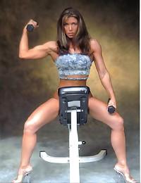 Muscular legs in pantyhose.