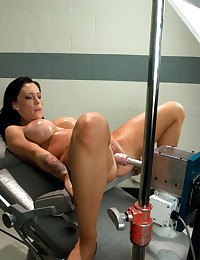Busty chick and dildo machine