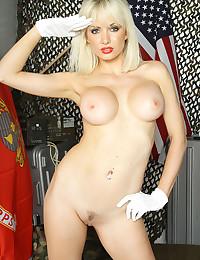Military man fucks blonde