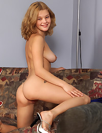 Christine strips and shows us her attributes.