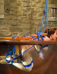 Hot bondage and water play