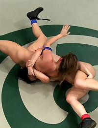 Tag team ladies wrestling mat...