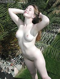 Sweet Devon - Hot young bimbo stripping outdoors