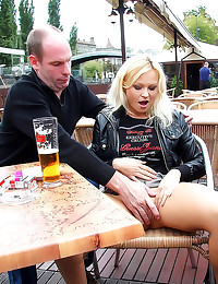 Public fuck with blonde whore