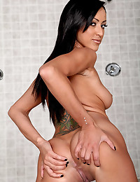 Fit chick striptease