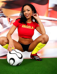 Soccer fan with hot pussy