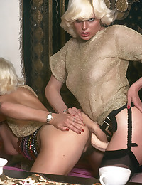 Two blonde cuties from the seventies playing
