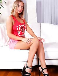 Hot girl in short shorts