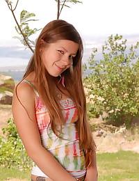 Emily 18 - Lovable teen honey in slutty yellow thongs
