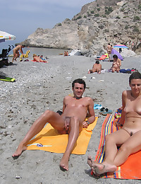 Nude amateur action from the public beaches