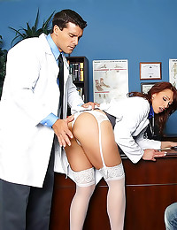 Dirty doctor in hot threesome