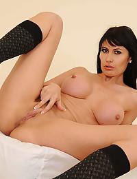 Eva Spreads Her Legs Wide Open