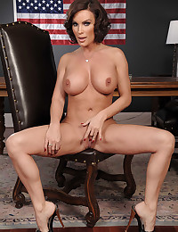 Busty milf Diamond Spreads Wide Open
