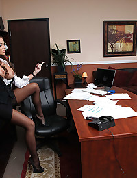 She is his office whore