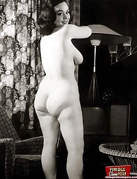 Wifes showing their big round vintage asses