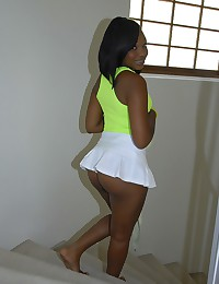 Ebony Vixen Stacy Plays Naughty Tennis