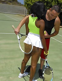 Ebony Vixen Stacy Plays Naughty Tennis