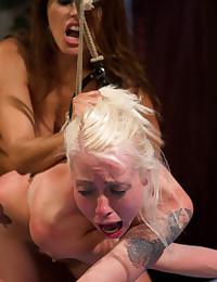 Rope bondage girl must serve