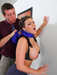 She takes cock in her stockings