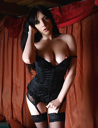 Samantha E makes her debut for Erotic Beauty in hot black lingerie.