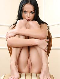 Stunning brunette bares it all for Met Art.
