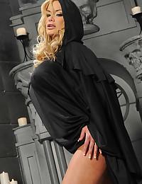Pornstar in a cape