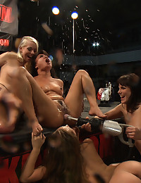 Lustful Beauty Banged By Dildo Machine