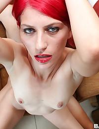 Pink haired slut loves big cock