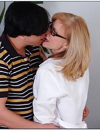 Naughty Cougar Nina Seduces Younger Man