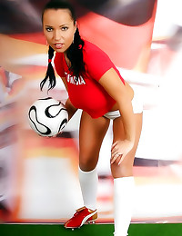 Soccer babe with big natural ...