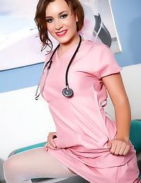 Sexy nurse has big tits