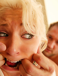 Teenie slut picked off the street gets tricked into bondage!