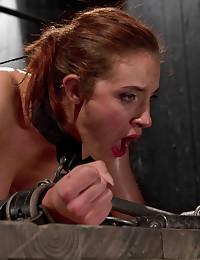 Hot wax hurts bound girl