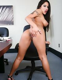 Two pierced nipples on slut