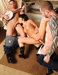 Naughty Asian Minx Asa Gets Ganged